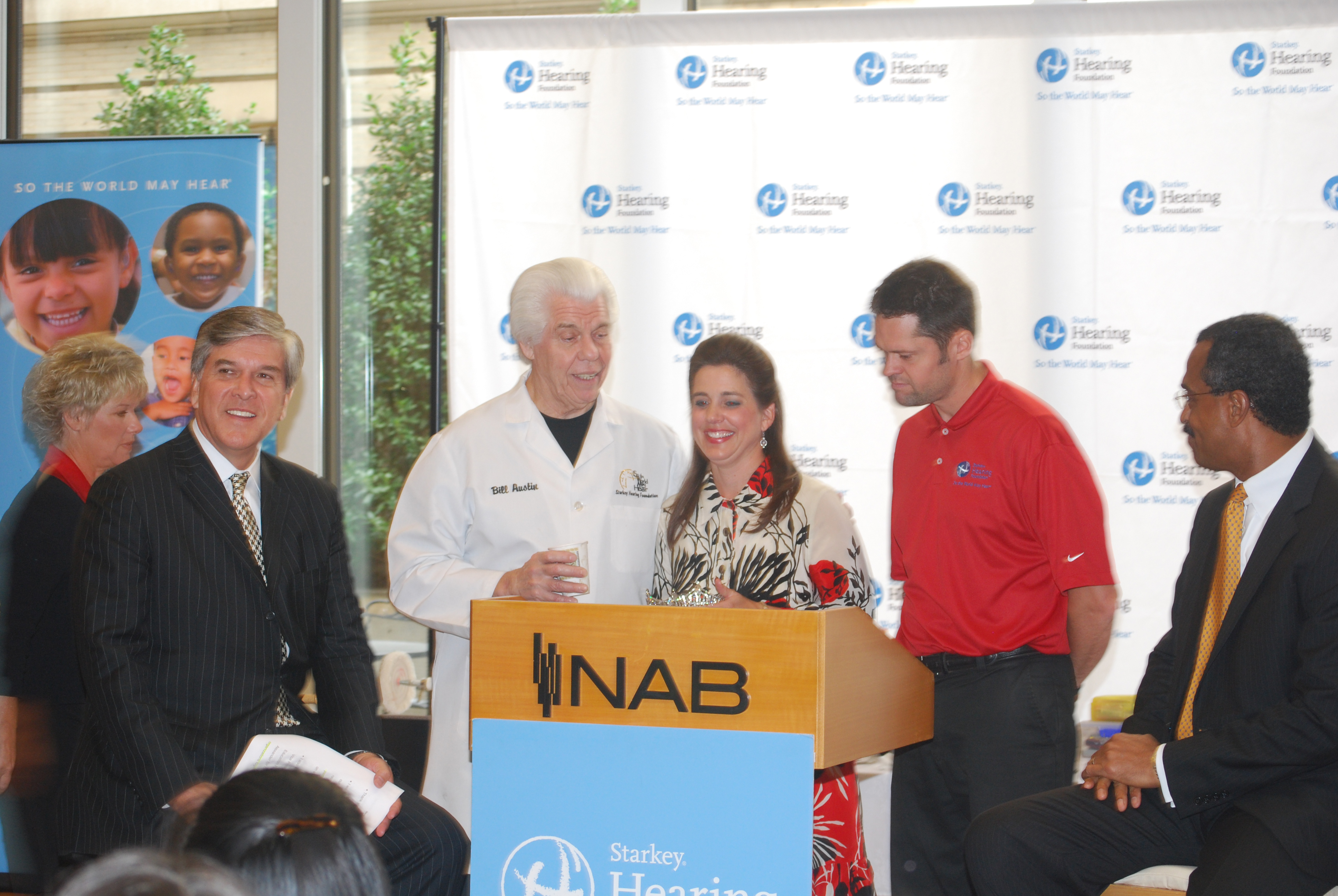 --NABEF and Starkey Hearing Foundation collaborate to provide hearing aids to roughly 50 children in the Washington area--