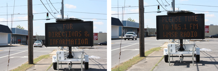 How authorities in Alabama conveyed information to residents when a tornado touched down in April.
